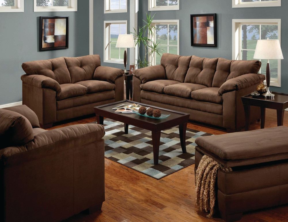 Simmons Luna Chocolate Living Room Set Masters Buy Or Lease