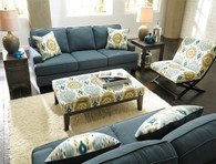 Ashley Brileigh Teal Living Room Set