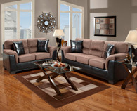 Laredo Chocolate Living Room Set