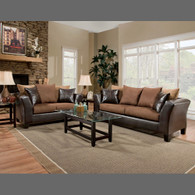 Ashley Jefferson Chocolate 7 pc Living Room Package