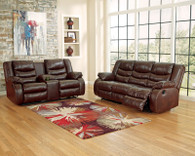 Ashley Linebacker – Expresso Reclining Sofa Set