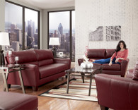 Ashley Kentley Durablend - Garnet Sofa Set