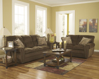 Ashley Cokato - Chocolate Sofa Set