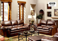 Simmons Geneva Mahogany Sofa Set