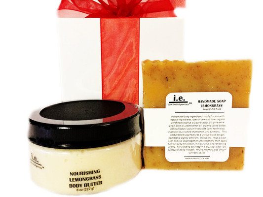 THE BASICS SET II:  Match your favorite Nourishing Body Butter 8 oz., with Handmade Soap 5.55-7 oz. for the best layering of the fragrance.  This set consists of these two items suitable for women, children, and men.