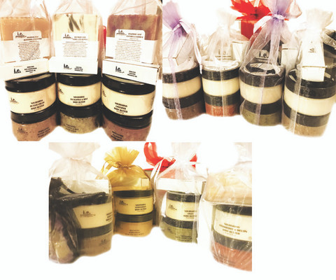 EXECUTIVE GIFT PACKAGE:  It is a Love Fest!  We carefully designed for corporate clients who want to shower the gift of pampering to employees, clients, family, or friends.  Each set consists of the Love Fest products described below.  WIth this pack you get (2) Large; (14) Small; and (14) Mini.