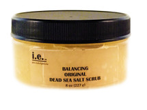 BALANCING DEAD SEA SALT SCRUB:  It is a great exfoliate for the entire body, hands, elbows, and feet.  It will leave your skin moisturized and feeling soft and supple.  This scrub is best used after cleansing the desired body part.  Ingredients:  a salt blend consisting of dead sea salt, dendritic salt, european salt, himalayan bath salt, epsom salt, and salt infused with lavender, peppermint, and eucalyptus; a blend of oils: sweet almond oil, grape seed oil, avocado oil, argan oil, organic unrefined coconut oil, aloe vera oil; essential oils, and vitamin E.  FOR EXTERNAL USE ONLY.  Size:  8 oz.