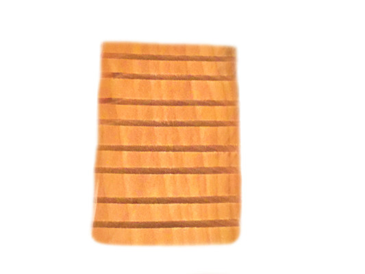 WOODEN SOAP DISH:  This wooden soap dish has grooves that will help to drain any water buildup.  It makes for a nice bath accessory.  It will hold any of your favorite i.e. spa indulgences Cleansing Soaps.  Size:  3 x 4.5.  Color:  As pictured.  Natural.