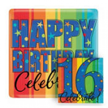 A Year To Celebrate 16th Birthday Party Supplies