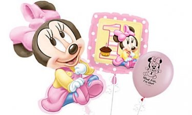 Minnie Mouse 1st Birthday Balloons