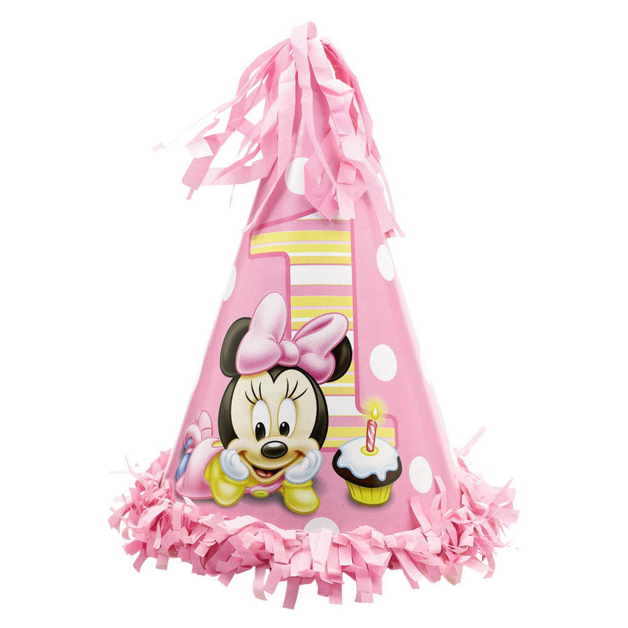 Disney Minnie 1st Birthday Cone Hat