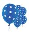 """11"""" Royal Blue Polka Dots Latex Balloon"""
