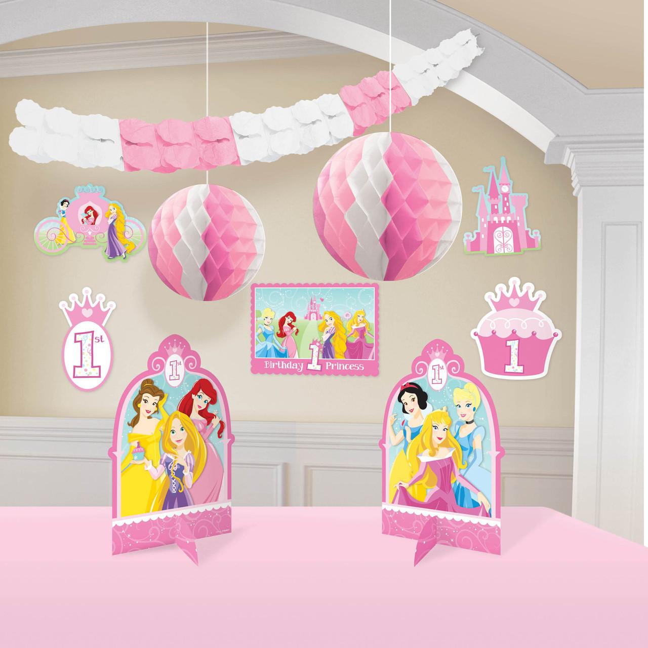 Disney Princess 1st Birthday Decorating Kit