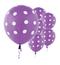 """11"""" Spring Lilac Polka Dots Latex Balloon"""