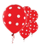 "11"" Red Polka Dots Latex Balloon"