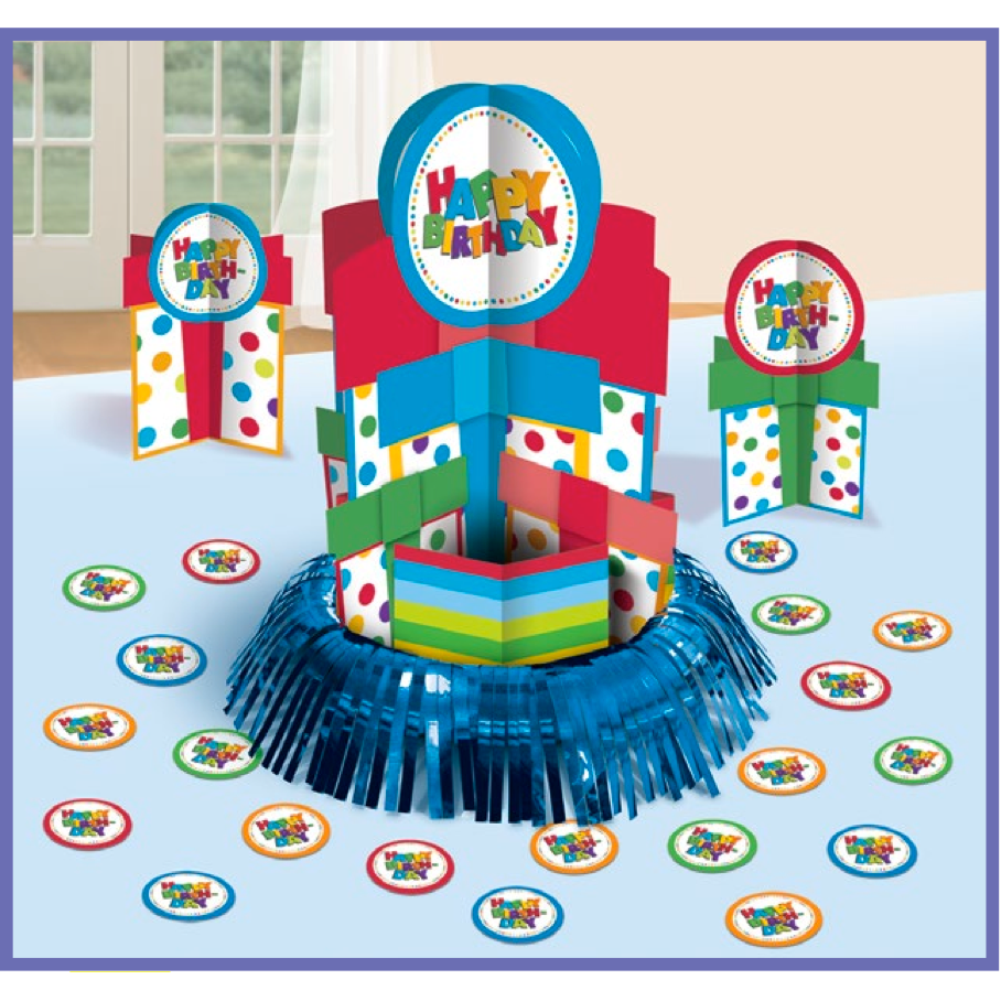 Happy Birthday Boy Value Table Decorating Kit