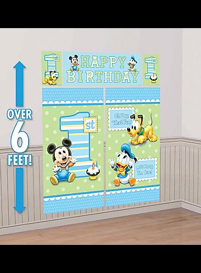 Sweet Birthday Girl Scene Setters Wall Poster With Girl 1st Birthday Banner 6 ft