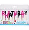 Black & Pink Happy Birthday Toothpick Candles 13ct