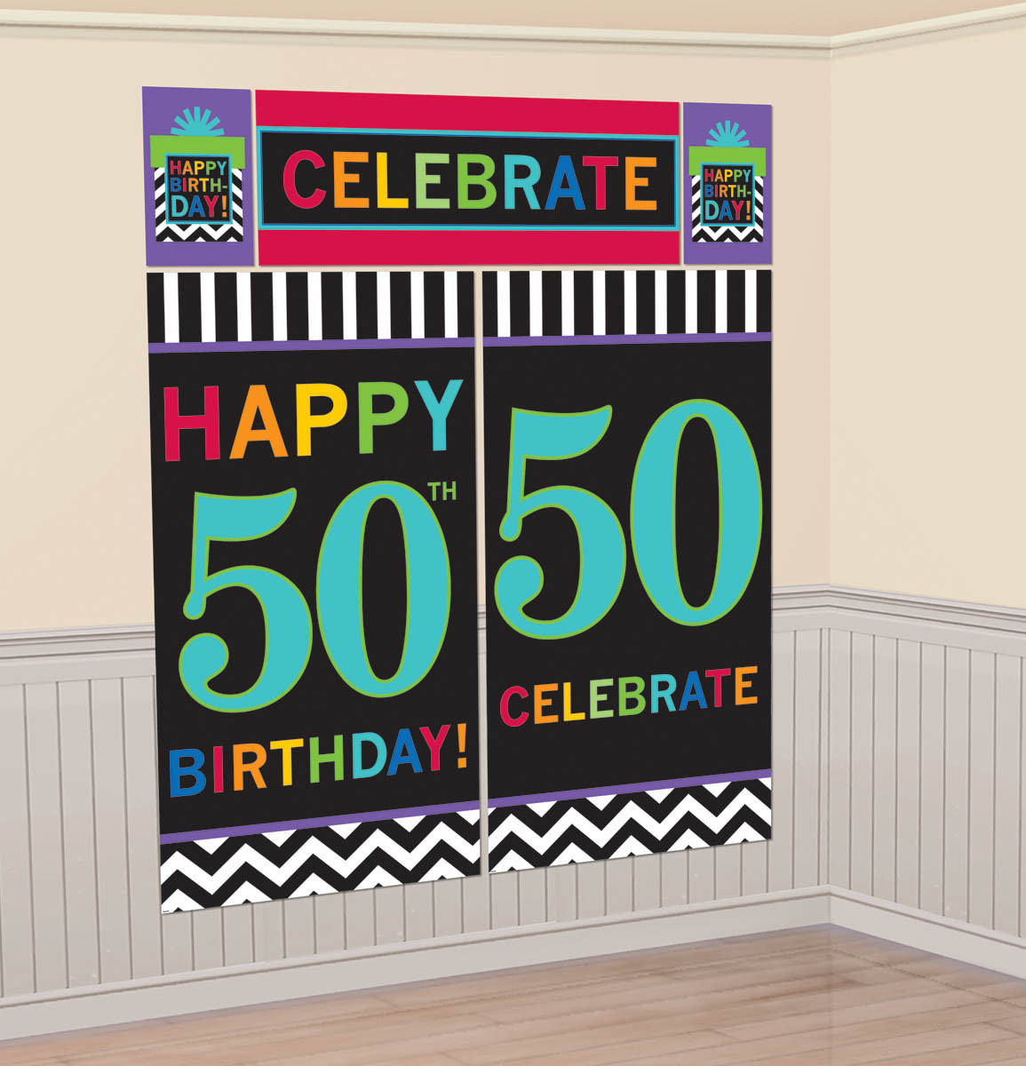 50th Celebration Wall Decorating Kit