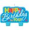 Blue Happy Birthday Candle