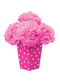 Bright Pink Fluffy Flower Centerpiece Kit 6pc