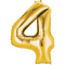 """35"""" Decorator Number 4 Balloon - Gold P50"""