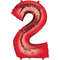 """35"""" Decorator Number 2 Balloon - Red P50"""