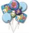 Bubble Guppies balloon Bouquet P75