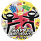 "18"" Ninja Happy Birthday (30719-01)"