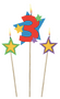 175205 Number 3 Star Birthday Toothpick Candles 3ct