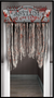 248977 Asylum/Chop Shop Bloody Doorway Curtain CardBoard w/Fabric Attachment