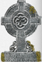 193007 Cemetry Mossy Celtic Cross TombStone
