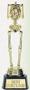 347111 Halloween Best Costume Skeleton Plastic Trophy