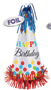 "250446 B13"" Bright Birthday Large Cone Hat w/Foil Fringe"
