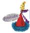 250525 Bright Birthday Mini Cone Hat Hair Clip w/Foil Fringe