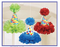 180117 Bright Birthday Cone Hat Fluffy Decorations Tissue & Printed Paper