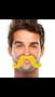 """390122.09 2 2/3"""" x 5 1/2"""" Moustaches Yellow"""