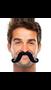 """390122.10 2 2/3"""" x 5 1/2"""" Moustaches Black"""