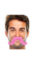 """390122.103 2 2/3"""" x 5 1/2"""" Moustaches Pink"""