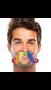 "392027 2 2/3"" x 5 1/2"" Moustaches Rainbow"
