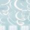 "22"" Plastic Swirl Decorations Frosty White"