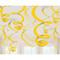 "22"" Plastic Swirl Decorations Sunshine Yellow"