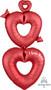 """38700-01 P70 29"""" Satin Open Hearts Giant Multi-Balloon"""