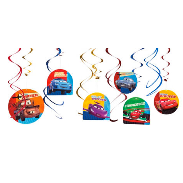 Disney Cars 2 Value Pack Foil Swirl Decorations Wow Let S Party