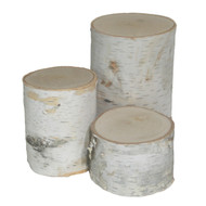 White Birch Pillars (set of 3 - varied heights)
