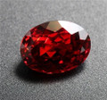 Lab Grown Ruby  14mm x 12mm Oval Lot of 8 Stones