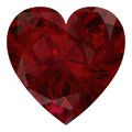 Lab Grown Ruby 8mm Heart Lot of 25 Stones