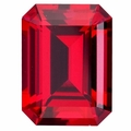 Lab Grown Ruby  14mm x 10mm Emerald Cut Lot of 5 Stones