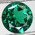 Lab Grown Lab Emerald  6mm Round Lot of 2 Stones