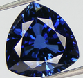 Lab Grown Blue Sapphire  12mm Trillion Shape Lot of 3 Stones